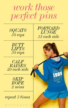 Perfect pins workout http://movenourishbelieve.lornajane.com.au/2013/02/15/love-your-legs-a-flawless-leg-work-out/#