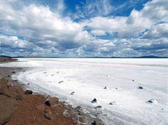 Lake Gairdner salt farm in Australia