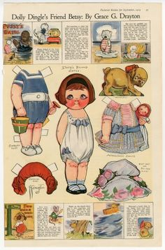 75.2974: Dolly Dingle's Friend Betsy | paper doll | Paper Dolls | Dolls | National Museum of Play Online Collections | The Strong