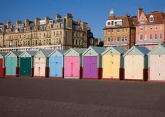 Sunny Beach Huts Hove (H1R) Also available as a Greetings Card from www.tonybowallphotography.com