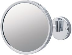 Jerdon Reverssible Wall Makeup Mirrors, 3x/1x, Chrome Finish   seattleluxe.com