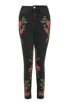 MOTO Rose Embroidered Mom Jeans - Jeans - Clothing - Topshop Europe  Pantalones Con Parches, 4bd22ca2fc69