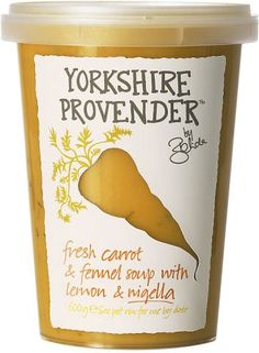 The Yorkshire Provender Carrot & Fennel with Lemon and Nigella Soup (600g)