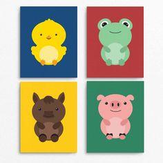 Cute Farm Animal Printables, instant download set