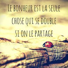 #Citation du lundi ! #Bonheur #partage