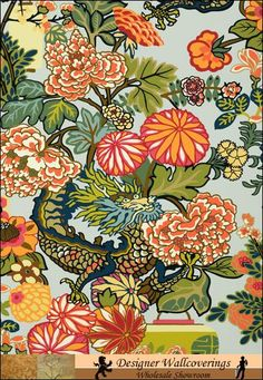 Emperor's Chinese Dragon - Claridge House [NEW-10064] : Designer Wallcoverings, Specialty Wallpaper for Home or Office