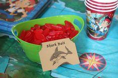 "Pirate Party food: ""shark bait"" (Swedish fish)"