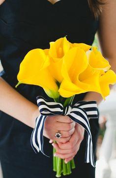 #yellowweddingbouquet with  #yellow #lillies