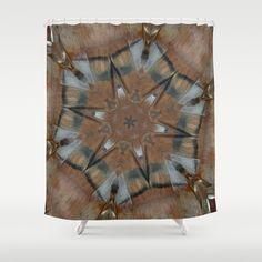 Tee Pee Bird Totem Mandala Kaleidoscope Shower Curtain by SaraValor - $68.00 Bring your tee pee indoors! #homedecor #giftsforhim