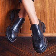 Tassel Slip On Platform All Season Loafers – cuteshoeswear black loafers loafers for women how to wear loafers loafers outfit work loafers outfit fall Red Loafers, Loafers Outfit, Casual Loafers, Loafer Shoes, How To Wear Loafers, Loafers For Women, Outfit Work, Lace Up Heels, Tassel