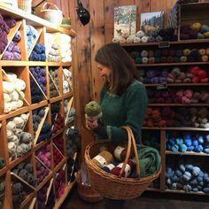 This picture bears a scary resemblance to my happy place. Wool Shop, Yarn Shop, Knitting Room, Knitting Yarn, Yarn Display, Easy Yarn Crafts, Cafe Concept, Yarn Storage, Yarn Stash