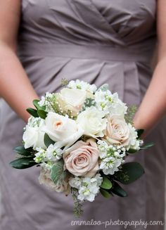 Sweet Avalanche roses with white stocks
