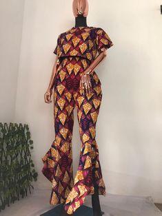 African Print Pants, African Print Dresses, African Dresses For Women, African Print Fashion, African Fashion Dresses, Sexy Outfits, Stylish Outfits, Couple Outfits, Ankara Dress