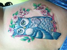 Just LOVE this owl tattoo!