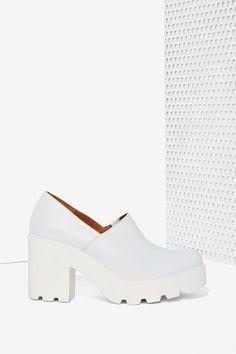Sixty Seven Aino Leather Platform - White