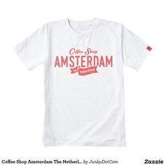 Coffee Shop Amsterdam The Netherlands Logo Zazzle HEART T-Shirt Dec 16 2016 @zazzle #junkydotcom #zazzle #december #2016 #holidays