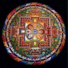 "A traditional Buddhist sand mandala. Mandala is a Sanskrit word meaning ""a container of essence"". It has also be translated, less . Mandala Art, Mandalas Painting, Mandalas Drawing, Zentangles, Mandala Buddhist, Buddhist Art, Mandala Meditation, Tibetan Mandala, C G Jung"