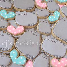 I  him  #decoratedcookies #sugarcookies #sugarart #edibleart #sweets #icingcookies #cake #cakeart #cookies #birthdaycookies #dessert #desserttable #sacramento #eeeeeats #elkgrove #thatsdarling #flashesofdelight #abmlifeiscolorful #abmlifeissweet #thehappynow #cookiedecorating #pusheen #pusheenthecat