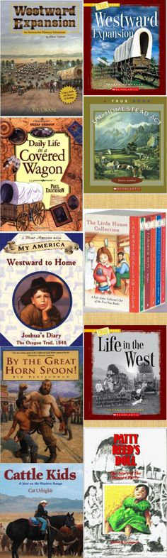 Compilation of books on #WestwardExpansion for kids