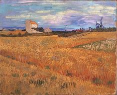 Vincent van Gogh Painting, Oil on Canvas Arles: June, 1888 P. de Boer Foundation Amsterdam, The Netherlands, Europe F: JH: 1475 Image Only - Van Gogh: Wheat Field Van Gogh Gallery Vincent Van Gogh, Landscape Art, Landscape Paintings, Gustav Klimt, Van Gogh Arte, Artist Van Gogh, Van Gogh Landscapes, Art Van, Dibujo