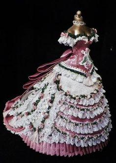 Custom Design by Ruthellen Cute Dresses, Vintage Dresses, American Girl, Fashion Dolls, Fashion Dresses, Bijoux Fil Aluminium, Dress With Shawl, Madame Alexander, Girl Doll Clothes