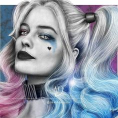 Repost from daviihonorato New drawing Harley Quinn Hope Harley Quinn Tattoo, Joker Und Harley Quinn, Harley Quinn Drawing, Harley Quinn Cosplay, Gotham, Harley Quenn, Comic Villains, Sketches, Illustrations