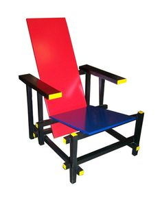 Gerrit Rietveld. Rietveld was a furniture designer and architect born in Utrecht in 1888 who was the contemporary of Piet Mondriaan.
