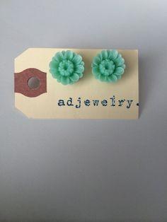 Sea Street Earrings  Mint Green by adjewelry on Etsy