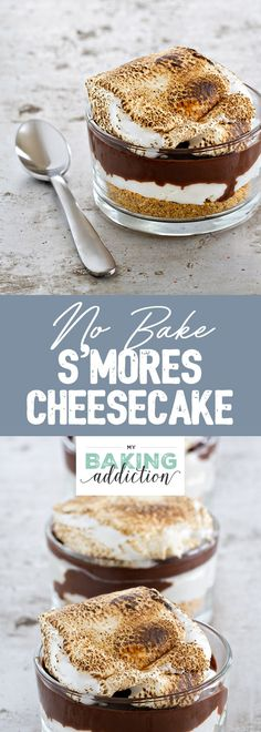 No Bake S'mores Cheesecake is topped with a silky layer of ganache and a giant roasted marshmallow. Your family will be raving about this dessert for a very long time!