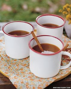 Perfect for your TTAA Chapter Third Thursday Happy Hour. Spiced Apple Cider - Martha Stewart Recipes  #TTAA #TexasTech #SupportTradition