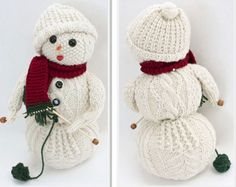 Knitted Snowman Free Patterns for Christmas
