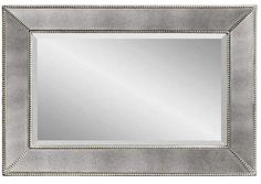 One Kings Lane Visby Wall Mirror - Antiqued Silver Silver Wall Mirror, Mirror Art, Spiegel Design, Wood Construction, Antique Silver, Oversized Mirror, Antiques, Frame, Top Designers