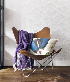 #kraudantapetti Floor Wallpaper, Butterfly Chair, Logo Design, Graphic Design, Flooring, Purple, Decor Ideas, Wallpapers, Inspiration