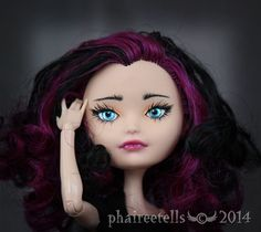 Ever After High Repaint BB#6 (Basic Beauty) Ever After High Rebel Core doll  Raven Queen by phaireetells
