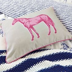 Joules Hand Drawn Horse Cushion from Palmers Department Store Online Bed Pillows, Cushions, Kids Bedroom, Bedroom Ideas, Joules, How To Draw Hands, Store Online, Department Store, Retro