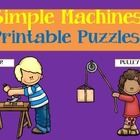 Simple Machines: Simple Machines printable puzzles. Simple Machines set includes both color and black and white puzzles for group review or for use...