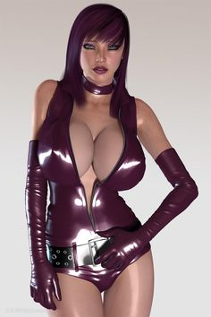 Very sexy latex outfit.