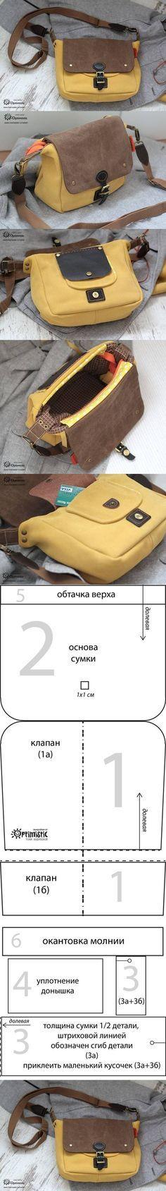 DIY Sew Handbag Pattern DIY Projects | UsefulDIY.com Follow Us on Facebook ==> http://www.facebook.com/UsefulDiy