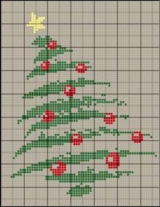 Cross stitch Christmas tree chart