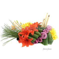 centro-mesa-lilies-naranja