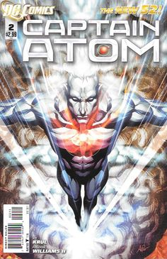 Rebuilding Blocks ____Written By J. T. Krul , Art By Freddie E. Williams , Cover Art Stanley Lau , The Story _Losing control of his powers, unable to stop the sensory overload in his mind, Captain Atom 2  DC Comics Book cover art super heroes villians