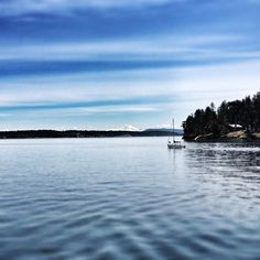 Friday Harbor in the San Juan Islands- beautiful scenery, Orca whales, and beachside camping. Sunny year-round.