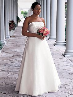 A-line style #plussizeweddingdresses are offered by our US based company. Get pricing at www.dariuscordell.com