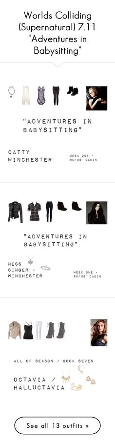 """""""Worlds Colliding (Supernatural) 7.11 """"Adventures in Babysitting"""""""" by mysticfalls1997 ❤ liked on Polyvore featuring IRO, Witchery, Chinese Laundry, Allurez, Doublju, Rodarte, Clarks, Prada, Sole Society and Alexis Bittar"""