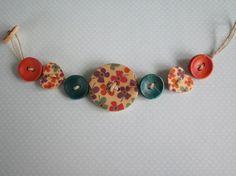 Boho Button Bracelet by HairPINACHEbyTerry on Etsy, $8.00