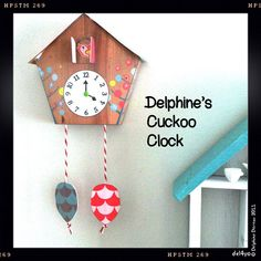 Le lapin dans la lune - A cute cuckoo clock - Papertoy!