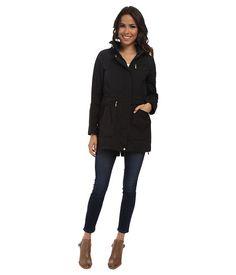 "Cole Haan 34"" Single Breasted Rain Jacket Black - Zappos.com Free Shipping BOTH Ways"