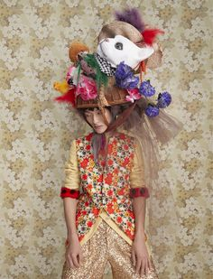 Mad Hatter: 11 avant-garde bonnets for Easter | HUNGER TV Hunger Magazine, New York Photography, Race Day, Fashion Story, Floral, Easter, Mad Hatters, Tv, Makeup