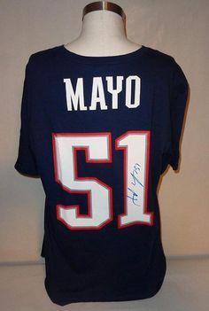 596f87e1b Jerod Mayo autographed T-Shirt PATRIOTS COA Memorabilia Lane   Promotions