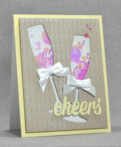 cheers to a new year with these champagne shakers use your champagne die cuts and